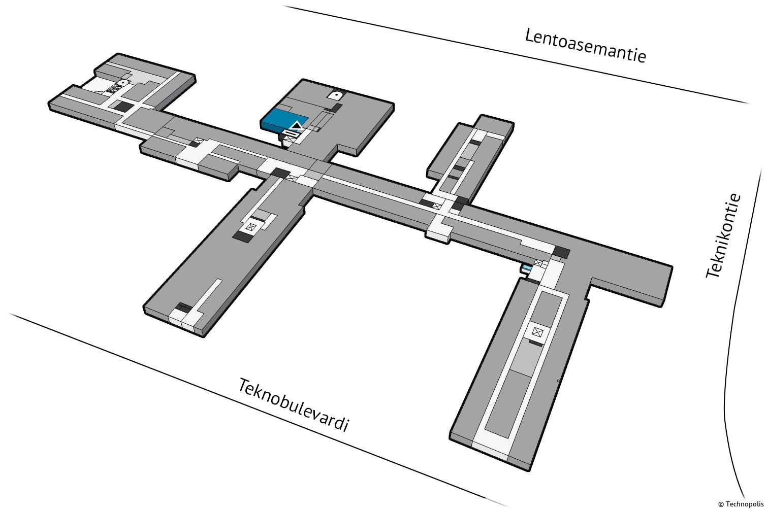 Vuokrataan rauhallinen toisen kerroksen toimistotila. Technopolis Aviapolis sijaitsee lentokentän läheisyydessä Kehä III:n vieressä. Vuokrattaviin neliöihin lisätään osuus yhteisistä tiloista.